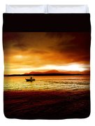 Shores Of The Soul Duvet Cover by Holly Kempe