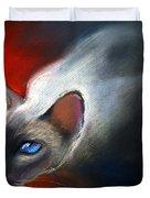 Siamese Cat 7 Painting Duvet Cover by Svetlana Novikova