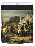 Siege Of Yorktown Duvet Cover by Louis Charles Auguste  Couder