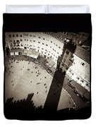 Siena From Above Duvet Cover by Dave Bowman