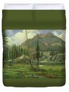 Sierra Nevada Mountains Duvet Cover by Albert Bierstadt