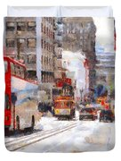 Sightseeing Along Powell Street In San Francisco California . 7d7269 Duvet Cover by Wingsdomain Art and Photography