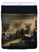 Signing The Declaration Of Independance Duvet Cover by War Is Hell Store