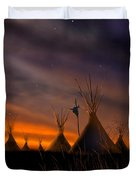 Silent Teepees Duvet Cover by Paul Sachtleben