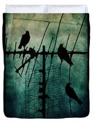 Silent Threats Duvet Cover by Andrew Paranavitana