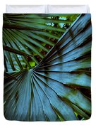 Silver Palm Leaf Duvet Cover by Susanne Van Hulst