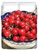 Simply a Bowl of Cherries Duvet Cover by Carol Groenen