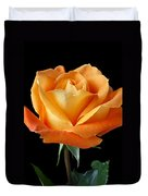 Single Orange Rose Duvet Cover by Garry Gay