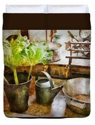 Sink - Eat Your Greens Duvet Cover by Mike Savad