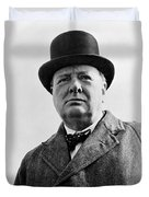 Sir Winston Churchill Duvet Cover by War Is Hell Store