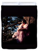 Sitting In A Tree Duvet Cover by Scott Sawyer