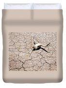 Skull In Desert 2 Duvet Cover by Kelley King