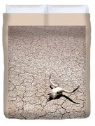 Skull In Desert Duvet Cover by Kelley King