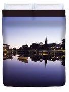 Skyline Over The R Garavogue, Sligo Duvet Cover by The Irish Image Collection