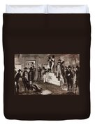 Slave Auction In Virginia Duvet Cover by Photo Researchers