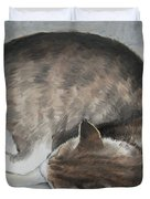 Sleeping Kitty Duvet Cover by Jindra Noewi