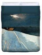 Sleigh Ride Duvet Cover by Winslow Homer