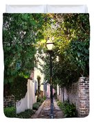 Small Lane In Charleston Duvet Cover by Susanne Van Hulst