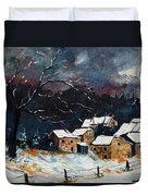 Snow 57 Duvet Cover by Pol Ledent