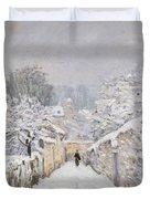 Snow At Louveciennes Duvet Cover by Alfred Sisley