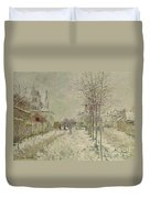 Snow Effect Duvet Cover by Claude Monet