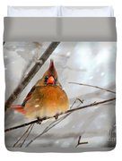 Snow Surprise Duvet Cover by Lois Bryan