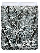 Snow Tree Duvet Cover by Nadi Spencer