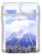 Snowy Mountain Duvet Cover by Elena Elisseeva