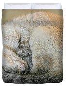 Snugglepuss Duvet Cover by Kristin Elmquist