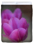 Soft Pastel Purple Tulips  Duvet Cover by Teresa Mucha