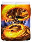Solar Flare Abstract Duvet Cover by Alexander Butler