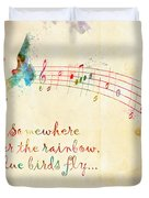 Somewhere Over The Rainbow Duvet Cover by Nikki Smith