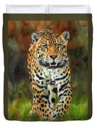 South American Jaguar Duvet Cover by David Stribbling
