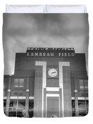 South End Zone Lambeau Field Duvet Cover by James Darmawan