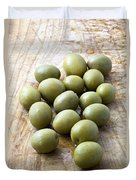 Spanish Manzanilla Olives Duvet Cover by Frank Tschakert