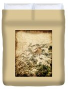 Sparrow In Winter I - Textured Duvet Cover by Angie Tirado
