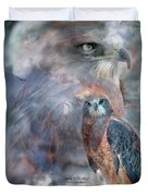 Spirit Of The Hawk Duvet Cover by Carol Cavalaris