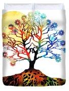 Spiritual Art - Tree Of Life Duvet Cover by Sharon Cummings