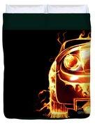 Sports Car In Flames Duvet Cover by Oleksiy Maksymenko