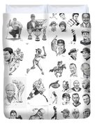 Sports Figures Collage Duvet Cover by Murphy Elliott
