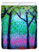 Spring Woodland Duvet Cover by John  Nolan