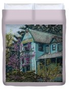 Springtime In Old Town Duvet Cover by Mary Benke