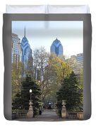 Sprintime At Rittenhouse Square Duvet Cover by Bill Cannon