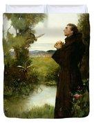St. Francis Duvet Cover by Albert Chevallier Tayler