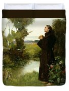 St. Francis Duvet Cover by Albert Chevallier Tayler