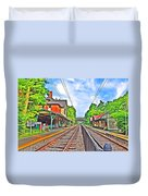 St. Martins Train Station Duvet Cover by Bill Cannon