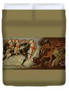 St. Michael And The Angels At War With The Devil Duvet Cover by Domenico Ghirlandaio