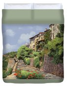 St Paul De Vence Duvet Cover by Guido Borelli
