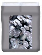 Stack Of Batteries Duvet Cover by Carlos Caetano