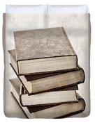 Stack of books Duvet Cover by Elena Elisseeva